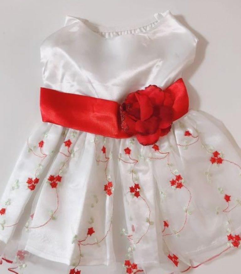真っ赤なお花ドレス